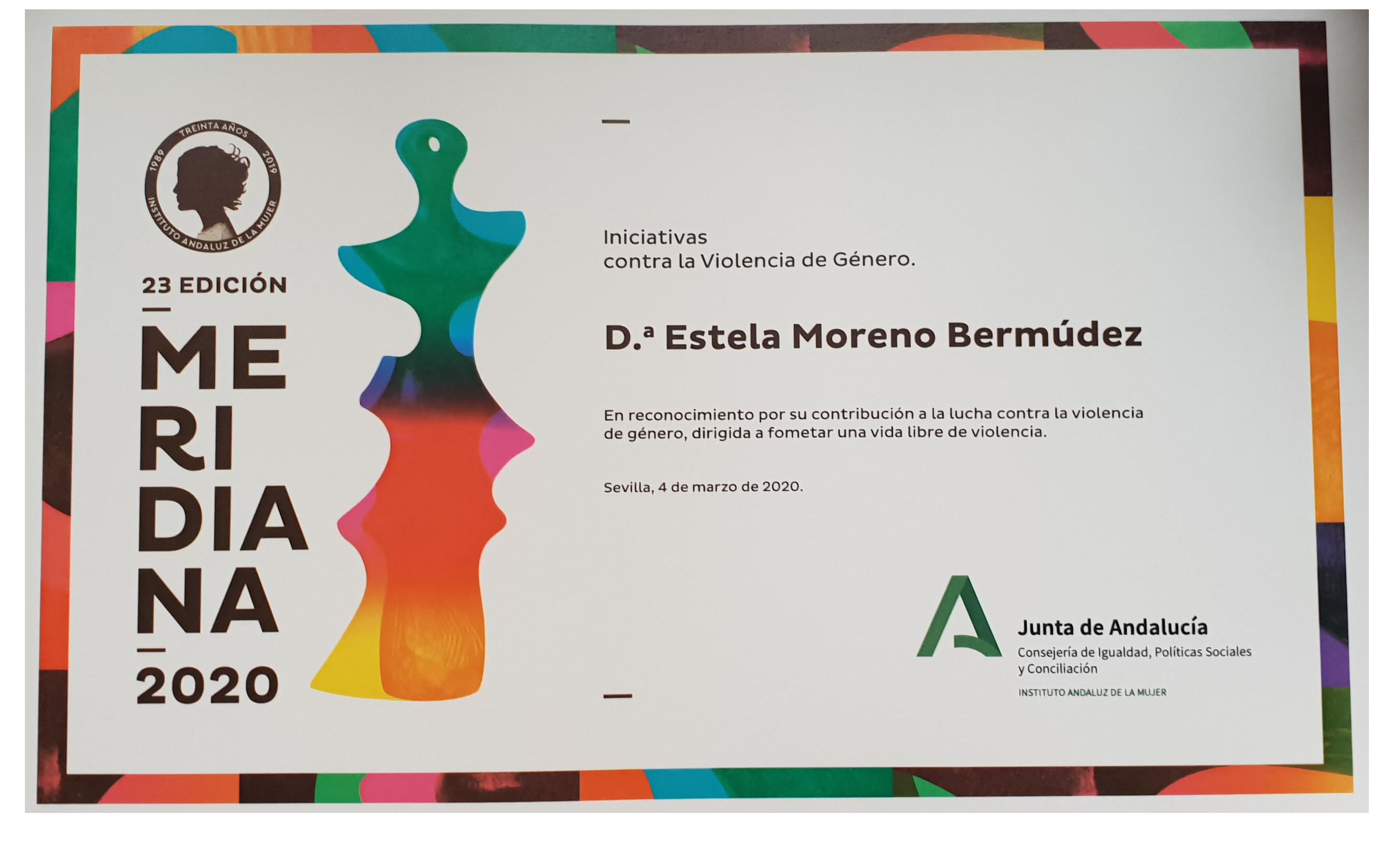 Premio Meridiana 2020 concedido a Pepuka y Estela Moreno