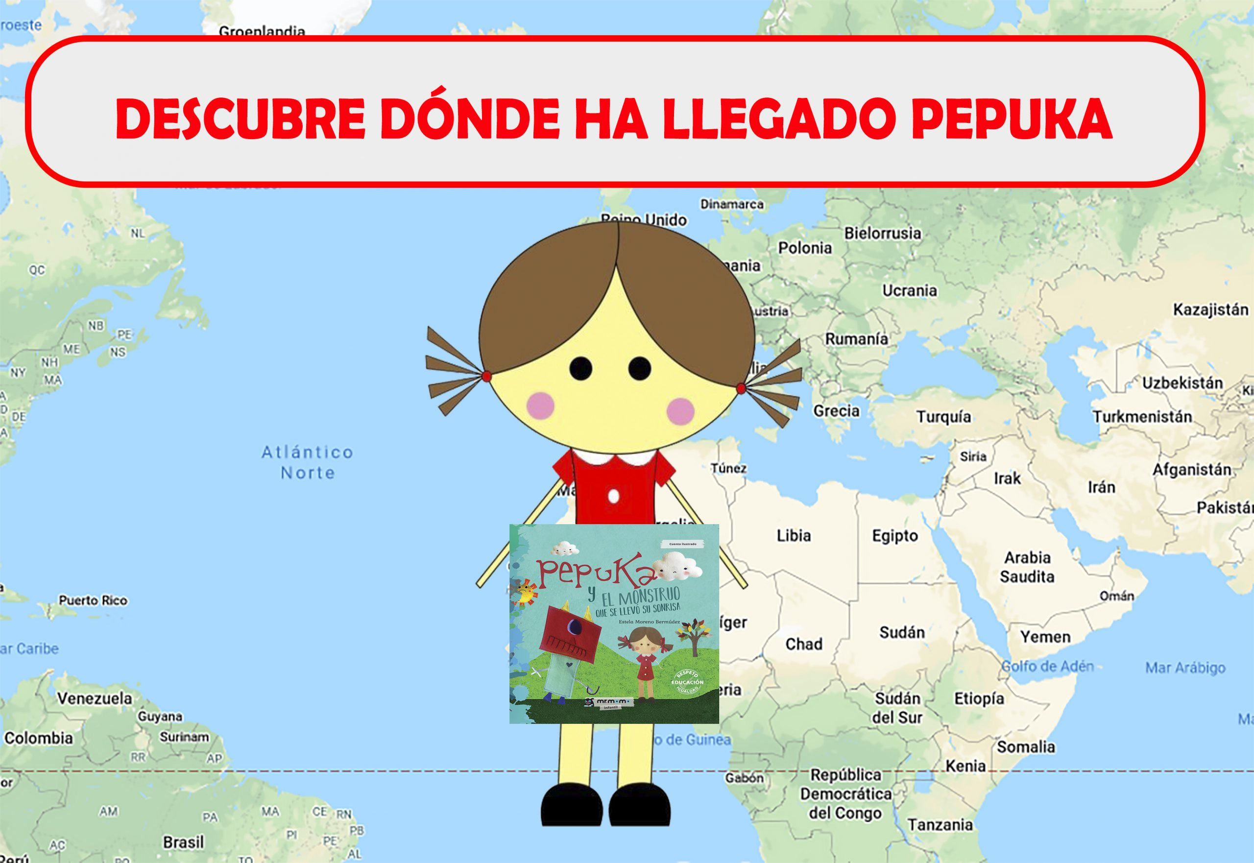 Mapa interactivo con los lugares que ha visitado Pepuka